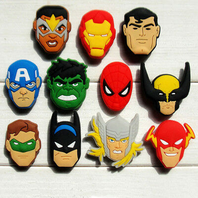 22pcs Lot Avengers PVC Shoes Charms fit for Croc & Jibbitz Wristbands Party Gift