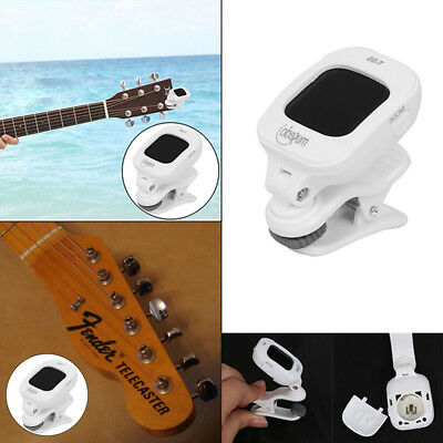 Portable Electronic Digital LCD Clip-on Tuner Rotatable Guitar Ukulele Violin