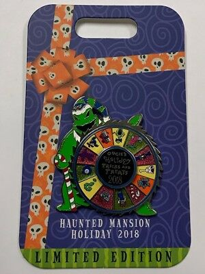 Disney 2018 NBC Nightmare Haunted Mansion Holiday OOGIE BOOGIE Spinner LE Pin