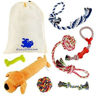 GaiusiKaisa Dog Toys for Small amp Medium Dogs(7 Pack Set)- 100% Natural Ropes