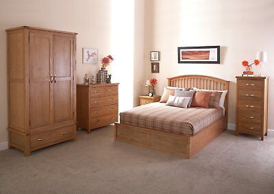 GFW Madrid Oak Effect Ottoman Kingsize Bed Frame