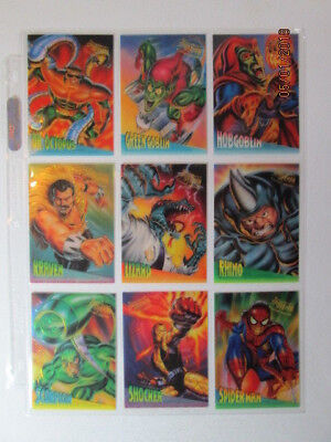 1995 Fleer Ultra Premiere Spider-Man  - Clearchrome Cards - Pick One