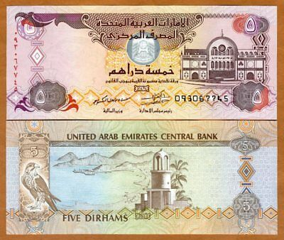United Arab Emirates, 5 Dirhams, 2013, P-26b, UNC