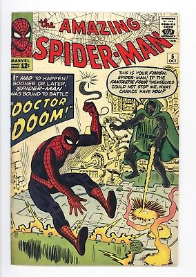 Amazing Spider-Man #5 Vol 1 Near Perfect High Grade Doctor Doom Appearance