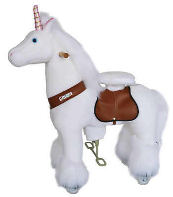 PonyCycle Unicorn Kids Manual Ride on Horse Small 3-5 Year NEW Authentic White