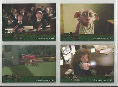"2006 Harry Potter: Chamber Of Secrets "" Komplettset "" aus 4 Blattgold Promos"