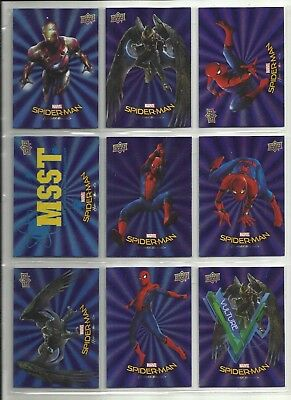"2017 Wal-Mart Spider-Man: Homecoming Blaue Folie "" Parallel Base Karten "" U-Pick"