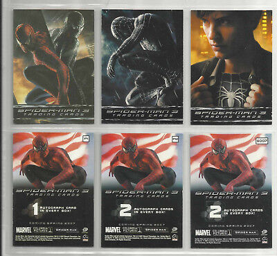 "2007 Spider-Man 3 (Film) Set mit 7.6cmPromo Karten "" (P1-P2-SD07)"