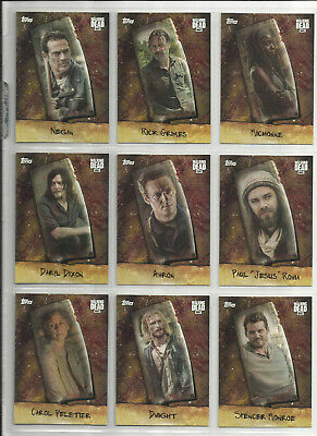 2017 The Walking Dead: Season 7 COMPLETE SET of 9 CHOP Chase Cards (CHOP1-CHOP9)