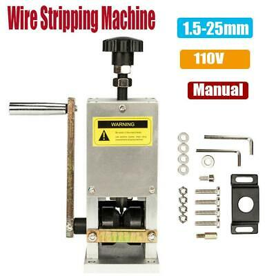 Manual Wire Stripping Machine Copper Cable Peeling Stripper w/ Drill Connector