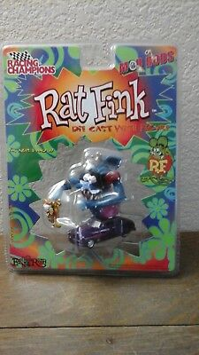 Mip 2000 Racing Champions Mod Rods Ed Big Daddy Roth Rat Fink Diecast W/ Figure