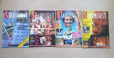 4 STARBURST DOCTOR WHO 1980's ISSUES #90,98,128,129 ALL IN FINE CONDITION