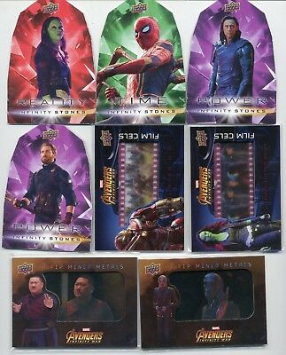 Captain America 2018 UD Avengers Infinity War Film Cells Strip Mined Metals LOT8