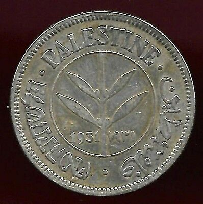 Palestine 1931 50 mils silver scarce date coin