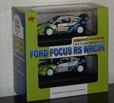 1/64 CM's Rally Car Collection #A FORD Focus RS WRC06 set of 2 cars
