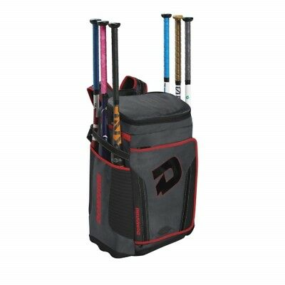 DeMarini Special Ops Back Pack - WTD9408 - Charcoal Scarlet