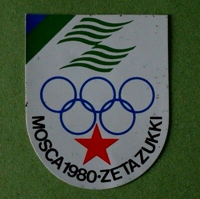 OLIMPIADI MOSCA 1980 - OLYMPIC GAMES AT MOSCOW ( RUSSIA ) / Adesivo Sticker