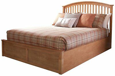 GFW Madrid Oak Effect Ottoman Double Bed Frame