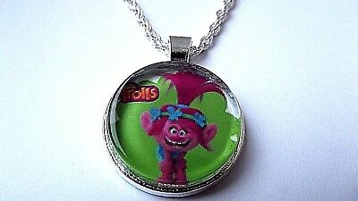 Trolls Poppy Pink Necklace 18 Inch Chain 5 To 7 Year Gift Box Birthday Party Box