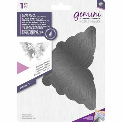 Crafter's Companion Gemini Foil Stamp 'N' Cut Die - Elements - Frame - Papillon