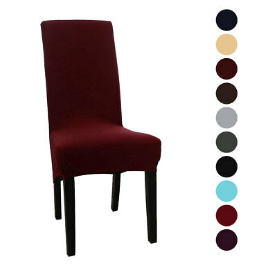 High Back Chair Slipcover Spandex Long Back Dining Chair Seat Cover