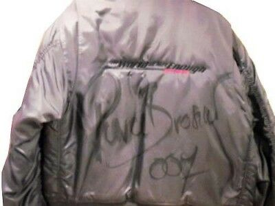 Original Pierce Brosnan Signed Crew Jacket World Is Not Enough Prop Autographed!