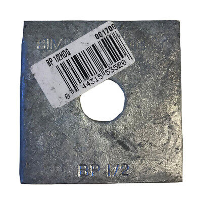 """Simpson Strong-Tie BP-1/2HDG 1/2"""" Bolt Dia. 2 x 2 Bearing Plate Galvanized"""