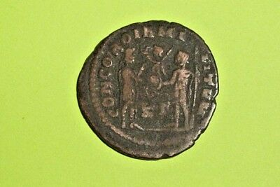 Diocletian 284 AD ancient ROMAN COIN presentation jupiter victory globe vg money