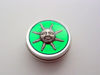 Translucent Green Sun Nug Jar Purse Pill Weed Tin
