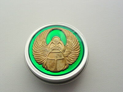 Translucent Green Scarab Nug Jar Purse Pill Weed Tin