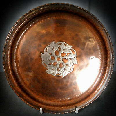 Stunning Hugh Wallace Hand Wrought Copper Charger / Tray
