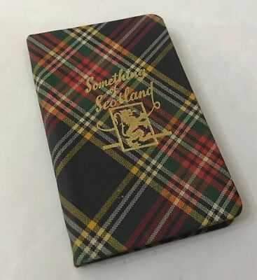 "Compact Legible ""Something of Scotland"" visitor guide book ~ Tartan Check Covers"