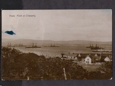 Inverness. Cromarty. 1924. The Home Fleet At Cromarty. Old B&w Photo Pc.
