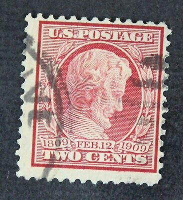 CKStamps: US Stamps Collection Scott#369 2c Lincoln Used Bluish Crease CV$250