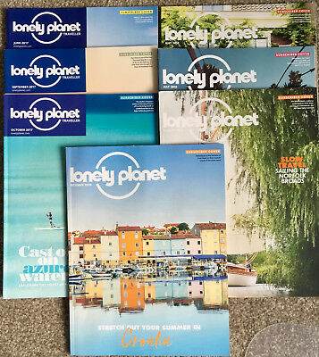 Lonely Planet magazines with subscriber covers x 7