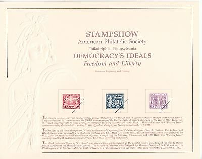 {BJ Stamps} BEP B-151 Souvenir Card STAMPSHOW 1991, unused w/envelope