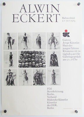 1979 ALWIN ECKERT German Art museum exhibition several images by the artist