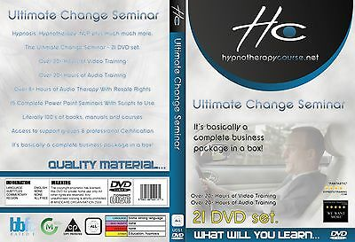 ULTIMATE CHANGE 21 DVD Video Hypnosis Hypnotherapy NLP Home StudyTraining Course