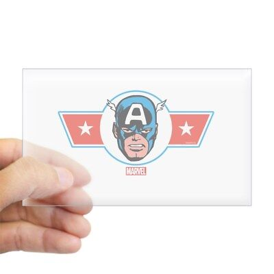 CafePress Captain America Symbol Rectangle Bumper Sticker Car Decal 417385877