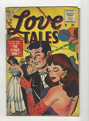 1955 Comic Book / LOVE TALES / Issue #61 / 10 cent golden age