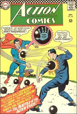 Action Comics (DC) #341 1966 GD/VG 3.0 Stock Image Low Grade