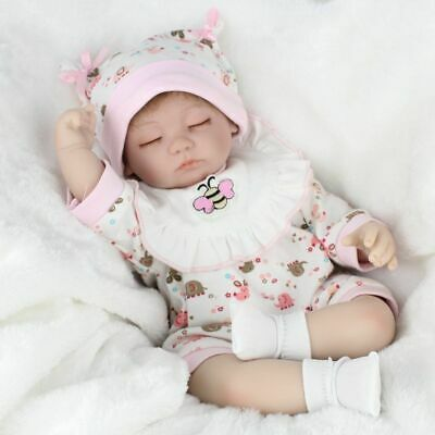 "16"" Handmade Reborn Baby Dolls Girl Lifelike Sleeping Newborn Baby Doll Gift Toy"