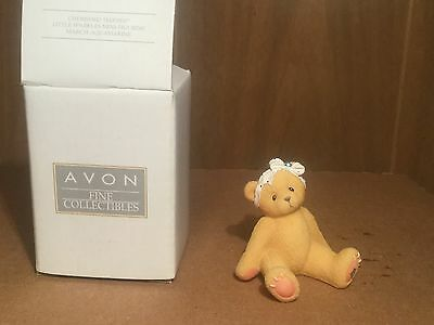 Avon/ Enesco Cherished Teddies Little Sparkles Teddy Figure- March