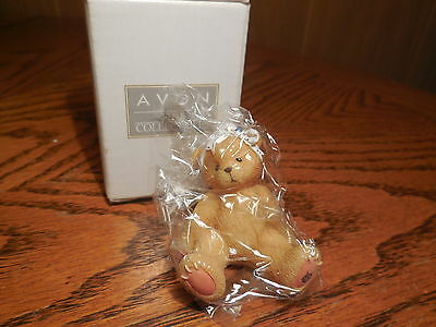 Avon/ Enesco Cherished Teddies Little Sparkles Teddy Figure- December-Turquoise