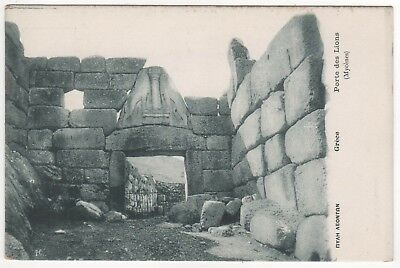 MYCENAE GREECE PC Postcard MYCENAEAN Greek LION GATE Argolis MYKINES Peloponne
