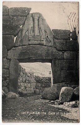 MYCENAE GREECE PC Postcard MYCENAEAN Greek LION GATE Argolis MYKINES Peloponnese