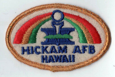 VINTAGE HICKAM AIR FORCE BASE AFB Patch HONOLULU HAWAII USAF Military PEARL