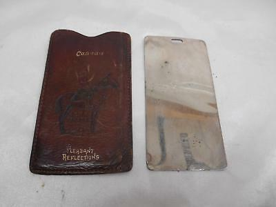 Old Vtg R.C.M.P. Pleasant Reflections LEATHER CASE ROYAL CANADIAN MOUNTED POLICE