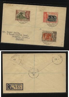 Dominica  registered cover to England           MS0929