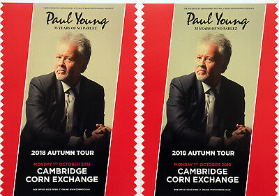 PAUL YOUNG 2018 TOUR FLYERS x 2 - 35 YEARS OF NO PARLEZ